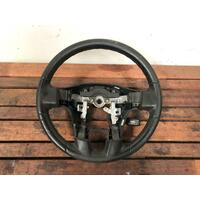 Mitsubishi 380 DB Black Leather Steering Wheel (Steering Wheel Only) 09/05-03/08