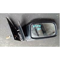 2006 Mitsubishi Lancer Right Front Door Black Electric Mirror (Wrecking Car)