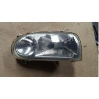 Volkswagen Golf 3DR Left Headlight Headlamp 03/1994-09/1998