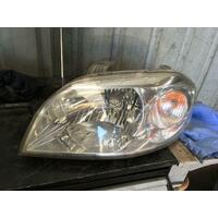 Holden Barina TK Sedan Left Head Lamp 07/2008-12/2012