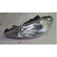 Peugeot 206 T1 Left Headlight 10/1999-11/2007
