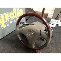 Lexus ES300 MCV30 Steering Wheel Leather/Wood (Read Desc) 10/2001-07/2004