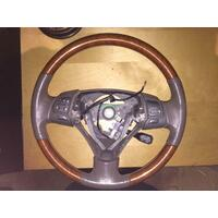 Lexus ES300 MCV30 Leather & Wood Steering Wheel, 08/2004-12/2005