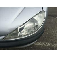 Peugeot 206 Left Hand Headlight 10/1999-11/2007